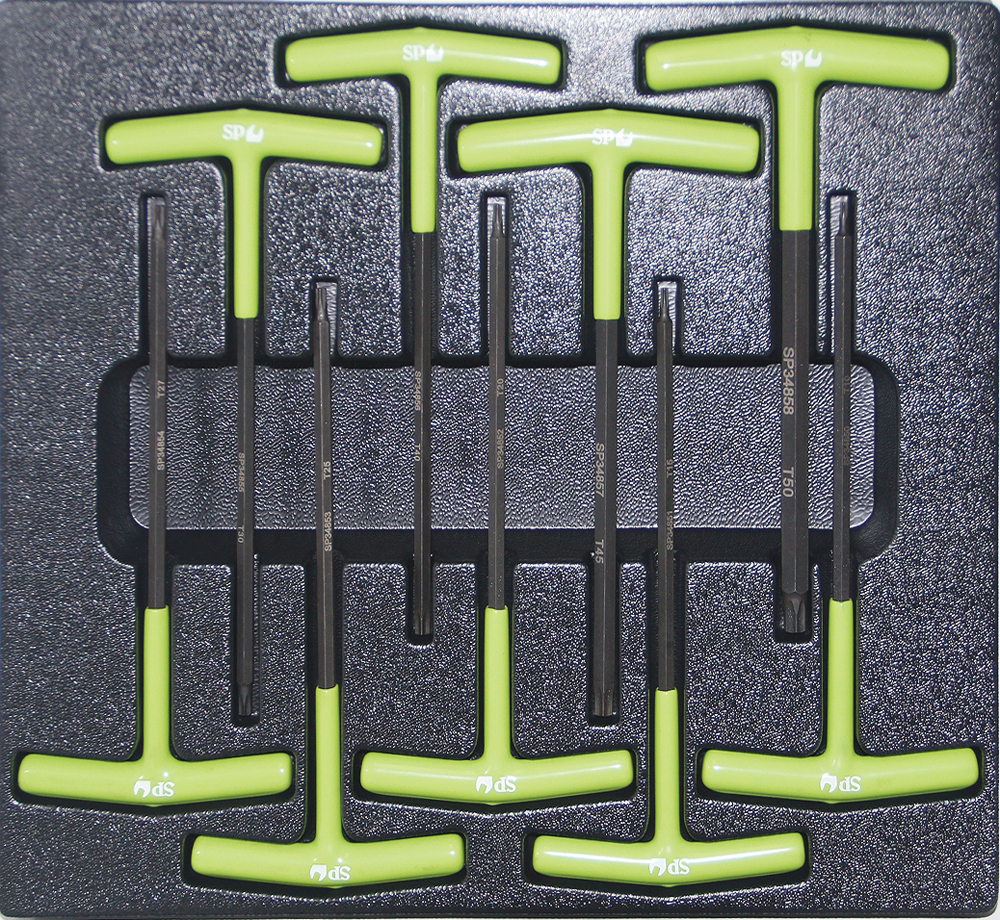 buy online 9pc t handle magnetic drive torx key set. Black Bedroom Furniture Sets. Home Design Ideas