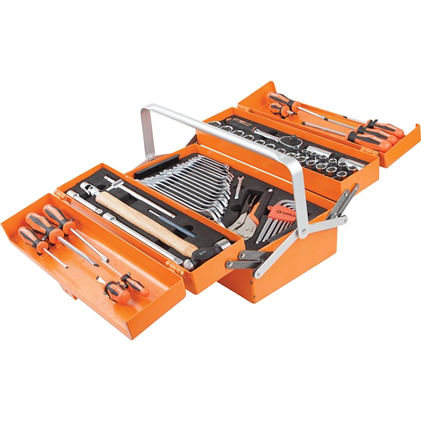 Groz 66pc 1/2in Dr. Auto Tool Kit W/Ali Cantilever Box