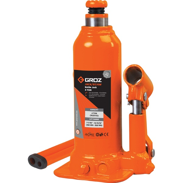 GROZ 4T HYDRAULIC BOTTLE JACK