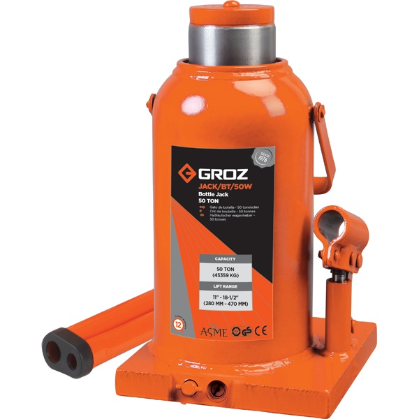 GROZ 50T HYDRAULIC BOTTLE JACK
