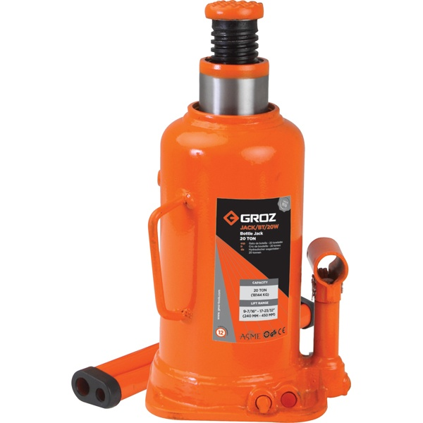GROZ 20T HYDRAULIC BOTTLE JACK