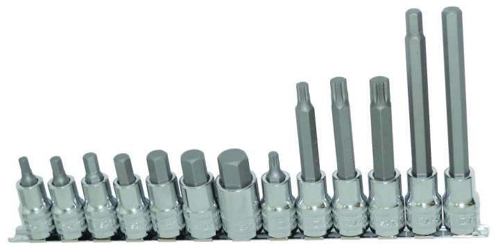 "13pc 1/2"" Dr Metric Inhex/Spline Rail Set"
