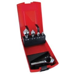 UNIKUT 5PC HSS CROSSHOLE 90DEG. COUNTERSINK SET - 2-25MM