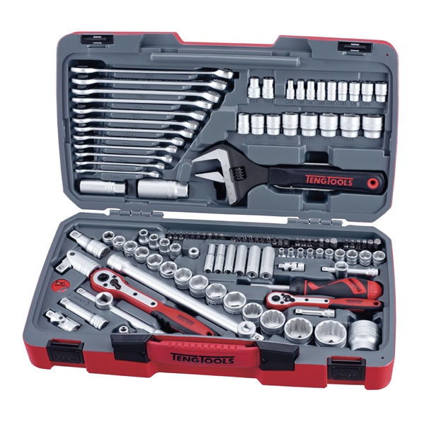 "127 Piece 1/4"", 3/8"" and 1/2"" Drive Metric and AF Socket and Tool Set"