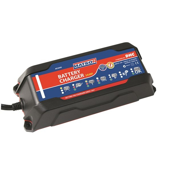 WATERPROOF 12V BATTERY CHARGER 3 AMP
