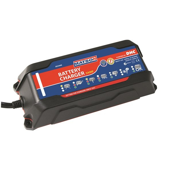 WATERPROOF 12V BATTERY CHARGER 5 AMP