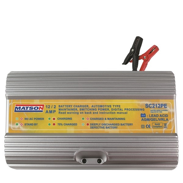 12V BATTERY CHARGER 2/12 AMP