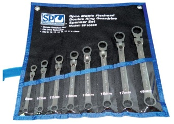 Locking Flex Head Double Box Wrench Sets