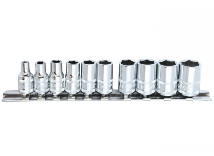 "1/4""DR SOCKET RAIL SET - 6PT METRIC - 10PC"