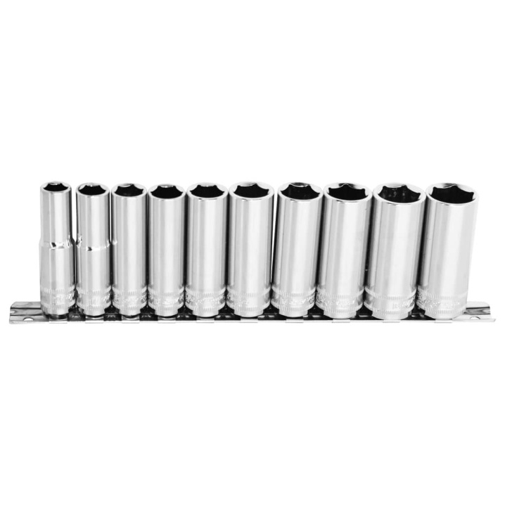 "3/8""DR DEEP SOCKET RAIL SET - 6PT METRIC - 10PC"