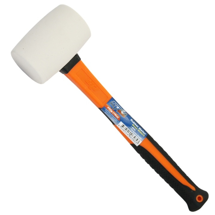 Rubber Mallet Fibreglass Handle White (454g/16oz/1lbs)