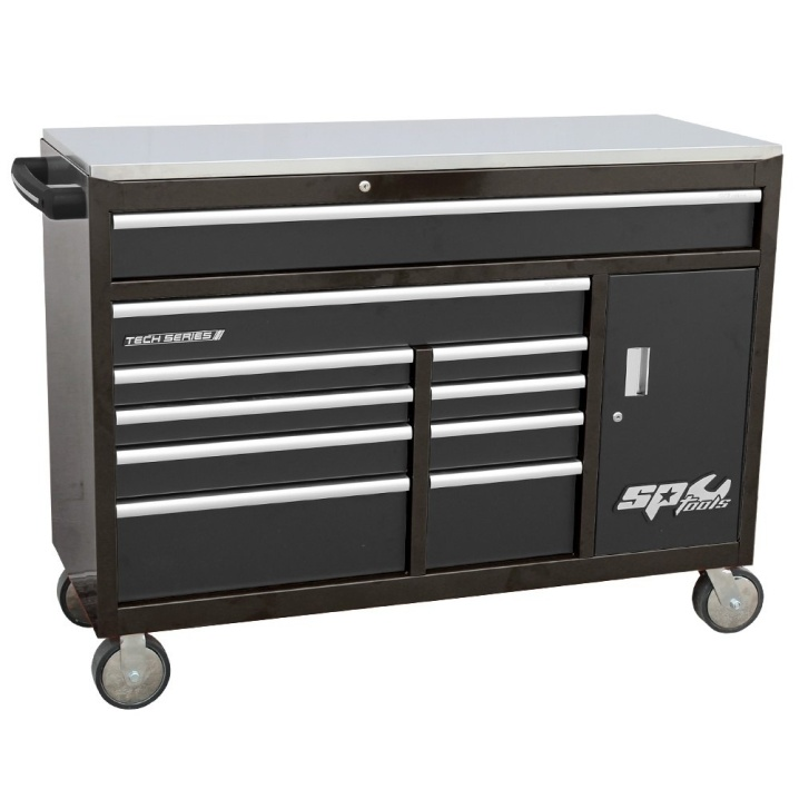 Custom Series Roller Cabinet with Power Tool Cupboard (BLACK)