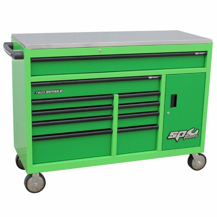 Custom Series Roller Cabinet with Power Tool Cupboard (GREEN/GREEN)