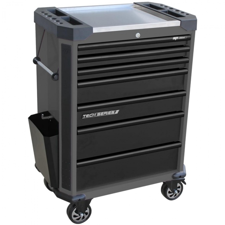 Tech Series Roller Cabinet 7 Drawer (DIAMOND BLACK)