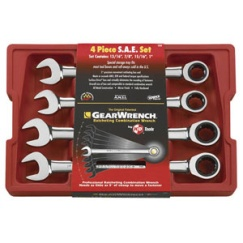 GEARWRENCH 4PC STANDARD RATCHETING WRENCH SET (SAE)