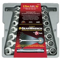 GEARWRENCH 8PC STD. RATCHETING WRENCH SET (5/16IN - 3/4IN)