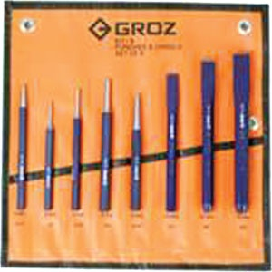 Groz 8pc Punch And Chisel Set