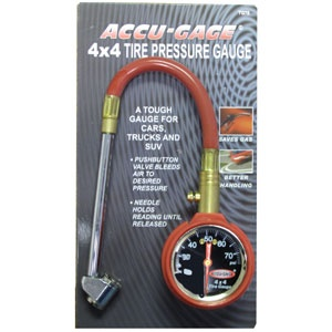 Accu-Gage® 11in HD PRO 4X4 3-75PSI-DF Chuck W/Prb Valve