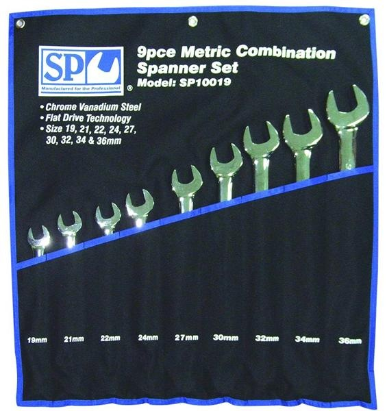 9pc Metric Jumbo Combination Wrench/Spanner Set