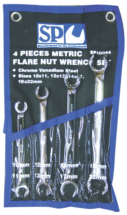 4pc Metric Flare Nut Spanner Set