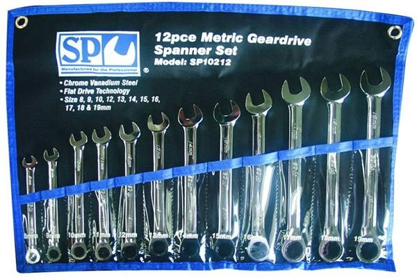 12pc Metric 0° Offset Geardrive Wrench/Spanner Set