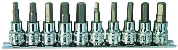 "10pc 3/8"" Dr Inhex Socket Rail Set"
