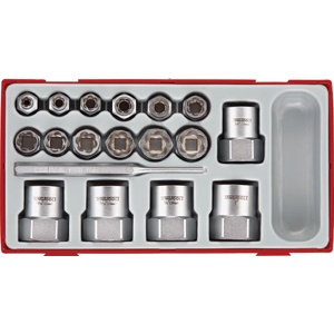 TENG 3/8IN & 1/2IN DR. STUD EXTRACTOR SOCKETS SET