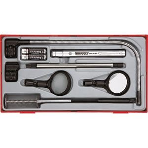 8PC PICK UP TOOL SET WITH L.E.D. TORCH