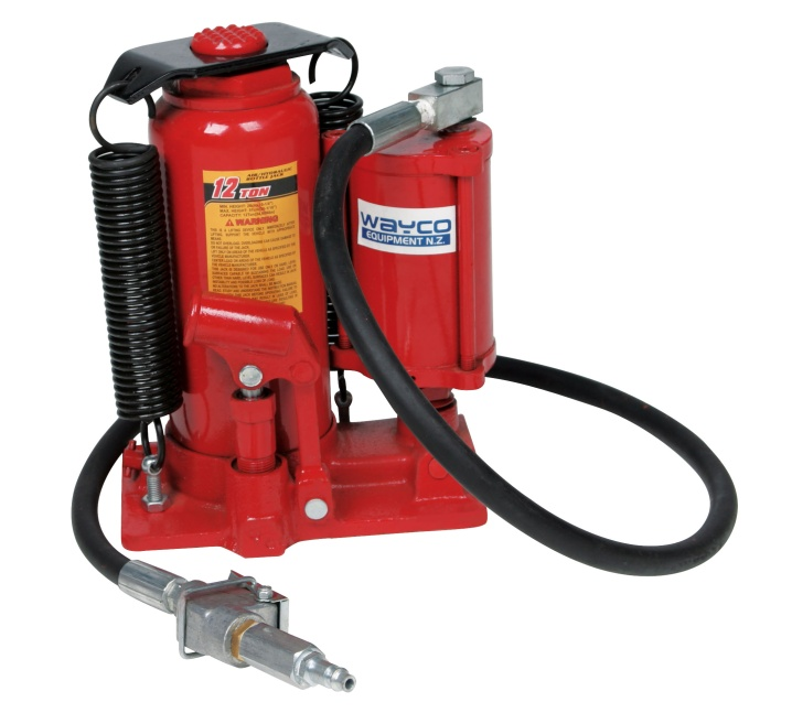 Wayco 12 Ton Air/Hydraulic Bottle Jack